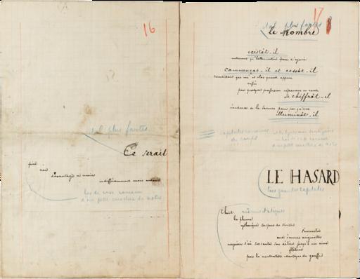 Stéphane Mallarmé, eerste staat vanCoup de dés, autograaf (tussen 1 februari en 5 maart 1897)