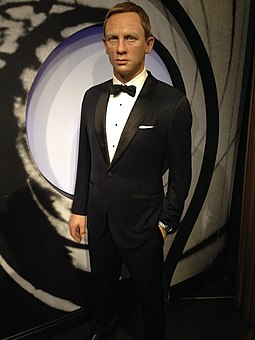 Wax statue of Craig as James Bond at Madame Tussauds in London James Bond (Daniel Craig) figure at Madame Tussauds London (30318318754).jpg