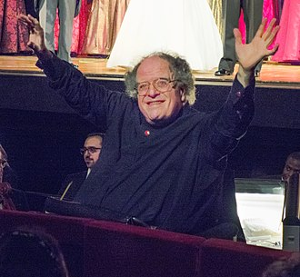 James Levine - Levine in the orchestra pit of the Metropolitan Opera House in 2013