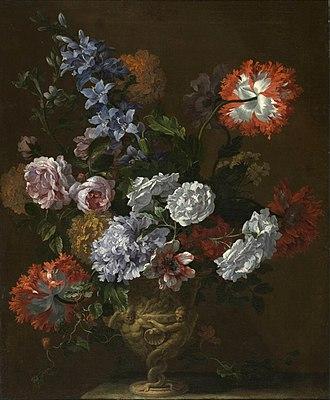 Jan Baptist Bosschaert - Flowers in a sculpted vase