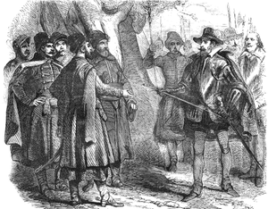 Treaty of Bytom and Będzin - A 19th-century depiction of Zamoyski taking Maximilian as a prisoner of war