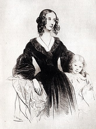 Jane Stirling - Portrait of Jane Stirling by Achille Devéria