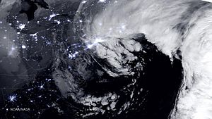 January 2015 North American blizzard - Image: January 2015 Nor'easter 27 Jan 2015 0645Z