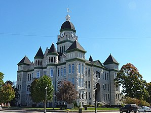 Jasper County Courthouse in Carthage, gelistet im NRHP Nr. 73001041[1]