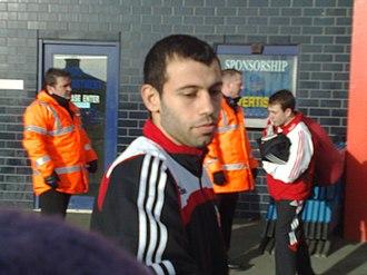 Javier Mascherano - Mascherano in action for Liverpool in 2008