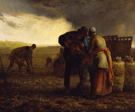 The Potato Harvest by Jean-Francois Millet, 1855 (Walters Art Museum) Jean-Francois Millet - The Potato Harvest - Walters 37115.jpg