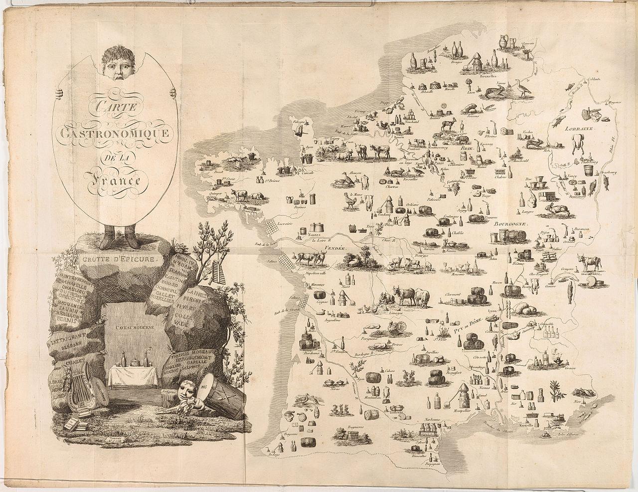 File:Jean François Tourcaty, Carte Gastronomique de la France, 1809 Cornell CUL PJM 1033 01.jpg ...