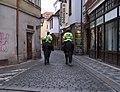 Jilská, městská policie na koních.jpg