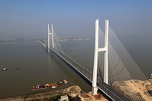 Jingyue Yangtze River Bridge - Image: Jingyue Yangtze River Bridge panoramio