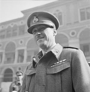 Jock Campbell (British Army officer) - Campbell after being presented with the VC by General Sir Claude Auchinleck