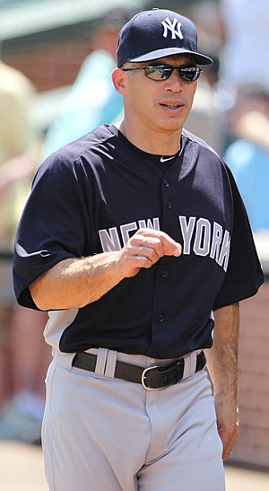 English: Joe Girardi, manager of the New York ...