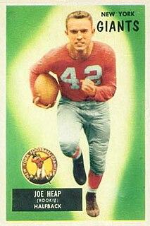 Joe Heap Professional American football player