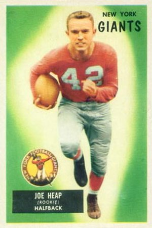 Joe Heap - Heap on a 1955 Bowman football card