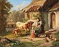 Johann Baptist Hofner - Idyllic Rural Scene.jpg
