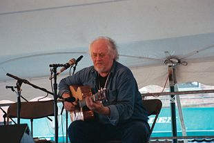 John Renbourn on the Custom House Square stage at New Bedford Summerfest 2005. Photograph by Thom C.