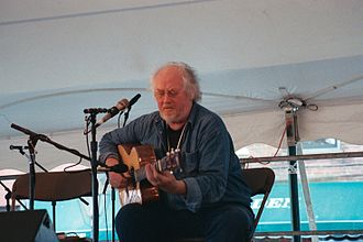 John Renbourn - John Renbourn on the Custom House Square stage at New Bedford Summerfest 2005. Photo by Thom C.