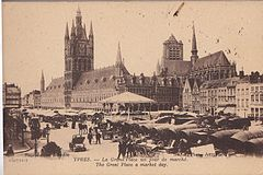 John Lakeland, Contrasting Photographic Views of Ypres and forget-me-not cards.jpg
