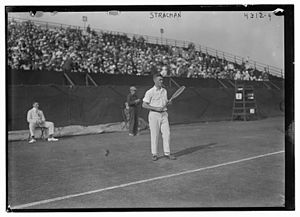 John R. Strachan - Strachan at the U.S. National Championships in 1917