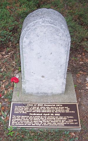 John Purdue - John Purdue's gravestone on the Purdue University campus.