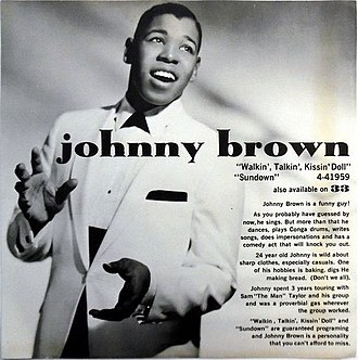 Johnny Brown (actor) - Johnny Brown Columbia Records Promotional Insert
