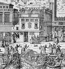 sixteenth-century engraving of Saint Mark's Square