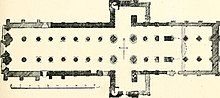 Florr plan of St Magnus Cathedral, Kirkwall Orkney