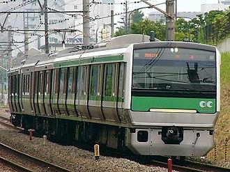 E993 series - E993 series train on test, June 2004