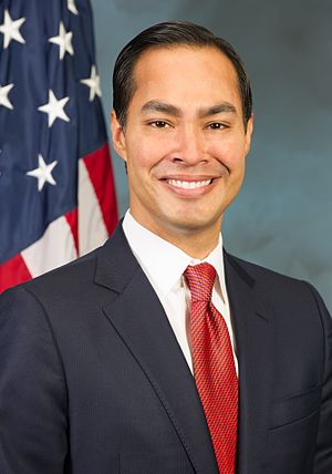 Julian Castro served as Mayor of San Antonio, Secretary of the Department of Housing and Urban Development and was a candidate for President in 2020. Julian Castro's Official HUD Portrait.jpg