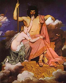 Jean Augustes Dominique Ingres, Jupiter and Thetis, 1811, Wikimedia Commons