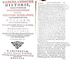 Jan Wagenaar - Vaderlandsche Historie