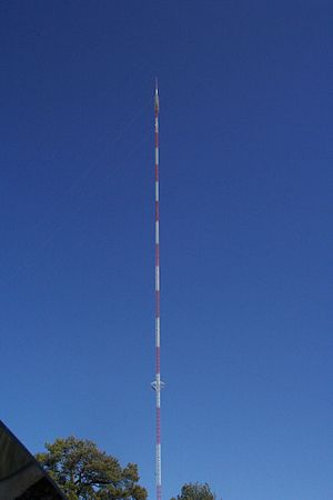 KATV - KATV's former transmitter tower in Redfield, used until its collapse on January 11, 2008.