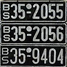 nummernschilder 1950