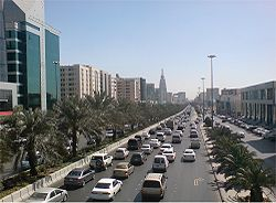 One part of King Fahd road