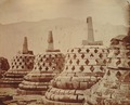 KITLV 90011 - Isidore van Kinsbergen - Stupas in Borobudur near Magelang - 1874.tif