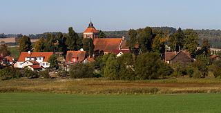 Bartąg Village in Warmian-Masurian Voivodeship, Poland