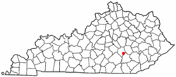 Location of Livingston, Kentucky