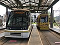Kagoshima City Tramcars at Kagoshima-Ekimae Station.jpg