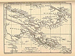 Morobe Province - Map of Kaiser Wilhelms-Land and Ost Neu Guinea