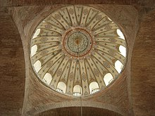 Interior view of the central dome of Kalenderhane Mosque in Istanbul