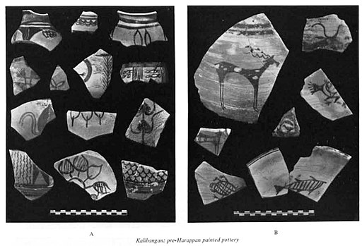 Kalibangan pre-Harappan painted pottery