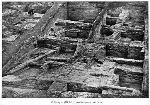 Kalibangan pre-Harappan structures