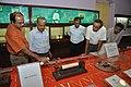 Kalyan Kumar Mukherjee And NCSM Personnel Examine Soshunograph - Jagadish Chandra Bose Museum - Bose Institute - Kolkata 2011-07-26 4063.JPG
