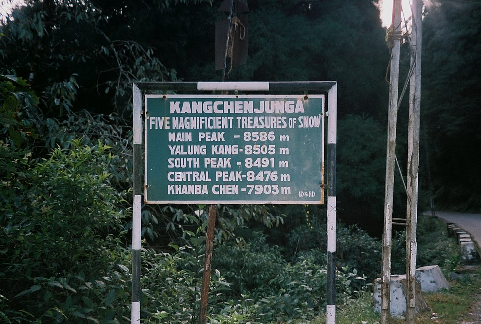 Kangchenjunga Sign Board