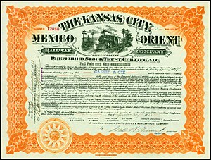 Kansas City, Mexico and Orient Railway - Image: Kansas City, Mexico & Orient RW 1917