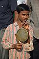 Kanshar Player - Durga Idol Immersion Ceremony - Baja Kadamtala Ghat - Kolkata 2012-10-24 1529.JPG