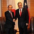Kaoru Yano and Sebastian Pinera 20101115.jpg