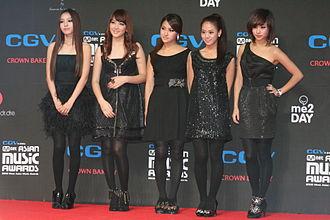 Kara (South Korean band) - KARA on the red carpet of MAMA