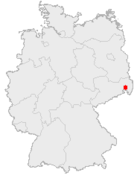 Location of Bautzen in Germany