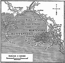 Una mappa tedesca di Montevideo del 1888