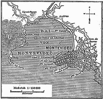 Karte Montevideo MKL1888 kl